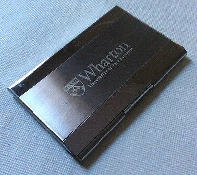Wharton School Business Card Holder Stainless Steel