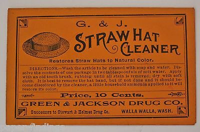 Antique Straw Hat Cleaner Package