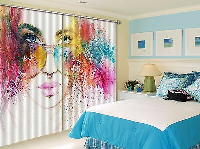 3D Nice Beauty 3Blockout Photo Curtain Printing Curtains Drapes Fabric Window CA