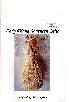 Lady Diana Southern Belle,  BEAD KNITTING PATTERN, for Porcelain Half Doll Skirt