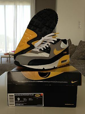 "Nike Air Max 90 Premium tz LAF ""Livestrong"" taille 42.5 eu / 9 us / 27 cm"