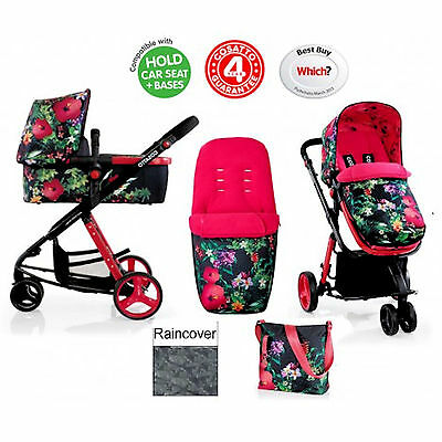 New Cosatto Giggle 2 Combi 3 In 1 Baby Pram Pushchair From Birth Tropico