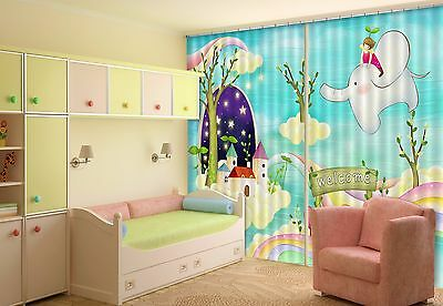 3D Cartoon 0086 Blockout Photo Curtain Printing Curtains Drapes Fabric Window CA