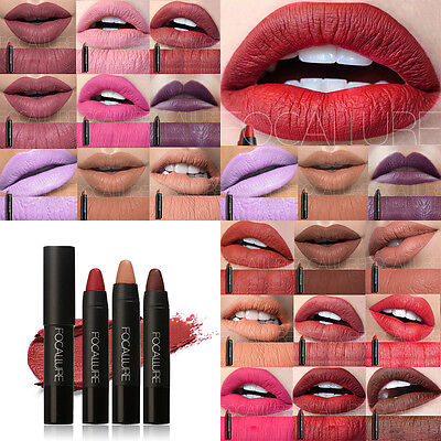 12Color FOCALLURE Lipstick Matte Lipstick  Beauty Makeup Waterproof Long lasting