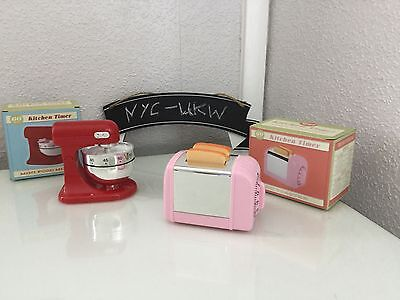 Retro Kitchen Timer In 2 Styles Pink Toaster & Red Food Mixer Quriky/novelty/fun