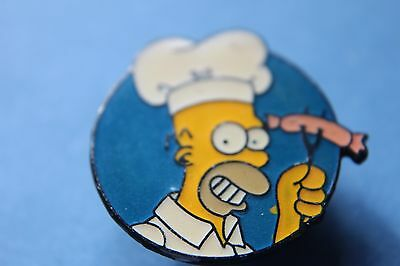 The Simpsons rare Character homer with sassage Pin badge