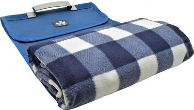 Royal Roll Up Soft Pile Large Picnic Blanket Waterproof Base Carry Handle