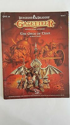 "RARE ""The ORCS Of THAR ""- GAZETTEER GAZ 10 With 2 sided MAP D&D  9241  VNC 1988"