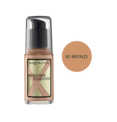 Max Factor Second Skin Foundation 080 Bronze Brand New & Sealed