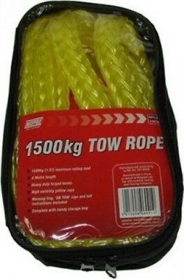 Maypole 2 Tonne Elasticated  Heavy Duty Tow Rope 4M X 1500Kg | Towing & Trailer
