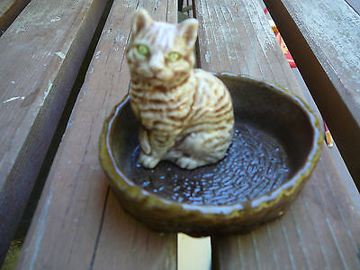 wade england pottery cat in basket