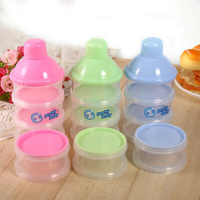 4 Layers Infant Baby Milk Powder Formula Dispenser Feeding Storage Case Boxes