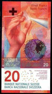 SWITZERLAND 20 FRANCS  2015  Prefix 15M   P NEW   Uncirculated Banknotes