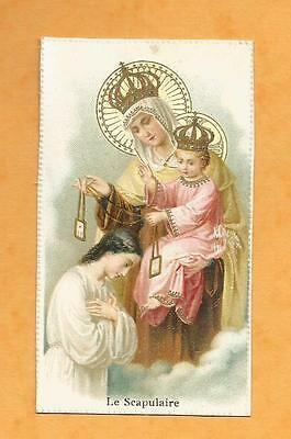 Image Pieuse  Holy Card Le Scapulaire