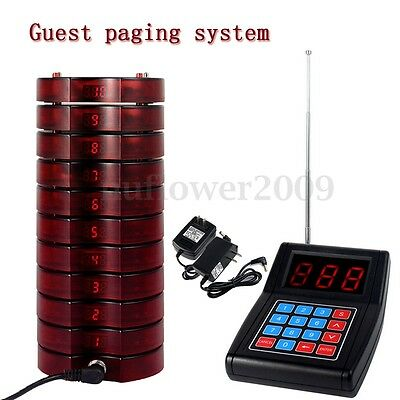 Speed Wireless Restaurant Coaster 10 Pagers Guest Calling Paging Queuing System