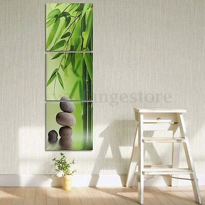 3Pcs Bamboo Zen Stone Picture HD Canvas Painting Modern For Wall Decor Art Gift
