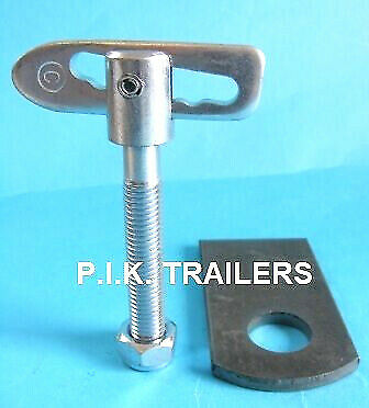 1 x Antiluce M12 x 75mm Trailer Drop Catch Fastener & Weld-on EYE Plate