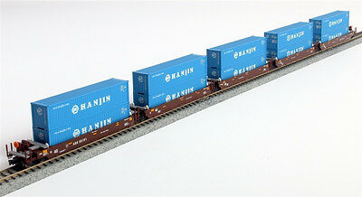 KATO 1066156 N  Maxi-I 5 Car Set with 40' Containers AOK #58153 106-6156 - NEW
