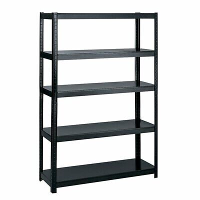 Safco Products Boltless Steel Rack Shelving in Black