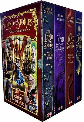 The Land of Stories Collection Chris Colfer 4 Books Box Set Enchantress Returns