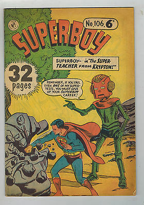 SUPERBOY COMIC No. 106 Australian