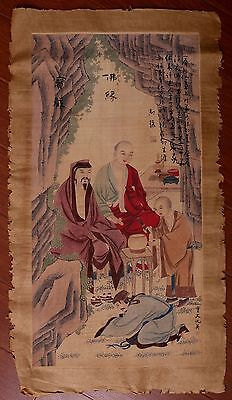 Wonderful Old Chinese Buddhas Hand Painting Collectible Marked ChouYing PP797