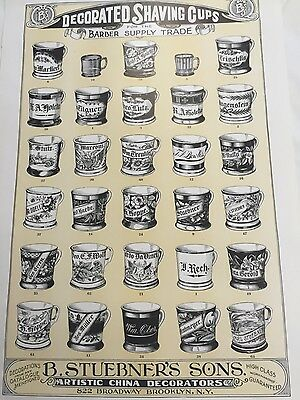 ORIGINAL Vintage Occupational Shaving Mug wall hanging Poster Advertisement$$$$$