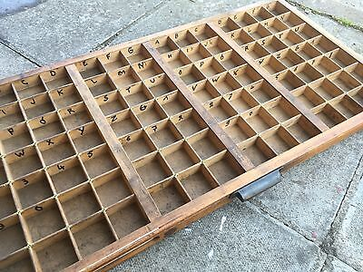 Vintage Print tray printers wooden type case drawer miniatures display