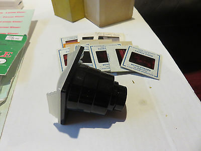 VINTAGE PLASTIC HAND HELD SLIDE VIEWER WITH 12 SLIDES Some of Hurds Service