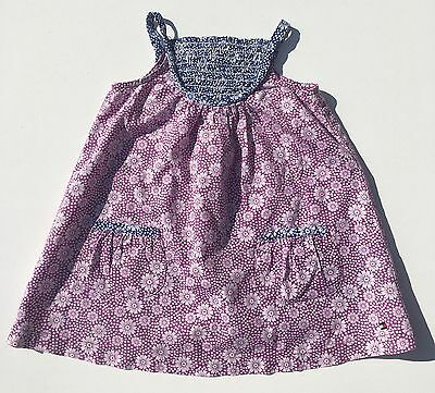 Timmy Hilfiger Girls 70s Style Purple Daisy Floral A Line Smock Dress 12 Months