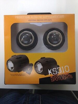 KAPPA/GIVI KS310 MOTORCYCLE HALOGEN SPOTLIGHTS For 21-25mm Tubular Bars