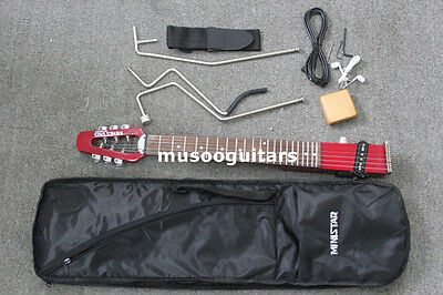 Minstar Brand Microstar Travel Electric Guitar With Carring Bag