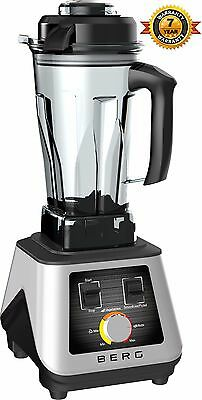 Berg 1500W 2Hp Commercial Food Blender Smoothie Maker Ice Crush Rrp £299 - White