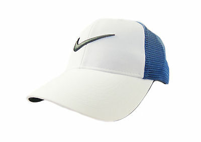 NEW Nike Legacy Tour Mesh White/Ocean Fog Fitted M/L Hat Cap