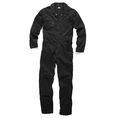 Scruffs Hardcore Boiler Suit Overalls Knee Pad Pockets Black (CLEARANCE)