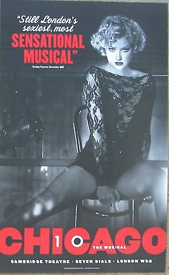 Chicago The Musical, 2007, Cambridge Theatre, 12.5 x 20 Inch Poster