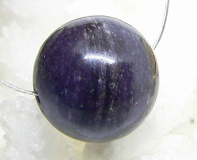RARE HUGE NATURAL AFRICAN PURPLE SUGILITE ROUND SPHERE BALL BEAD 14mm 22.75ctw