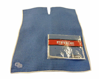 NEW Club Glove Microfiber Caddy + Pocket Towel 17' x 40' Blue/Grey