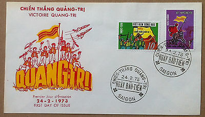 FDC Vietnam - 1973 Saigon - Victory at Quang Tri - NVG - first day cover