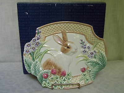 Fitz and Floyd Botanical Bunny Canape Plate with Original Box