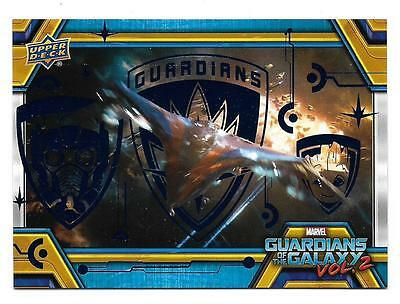 2017 Marvel Guardians of the Galaxy Volume 2 BLUE Foil #12 Serial #87/199
