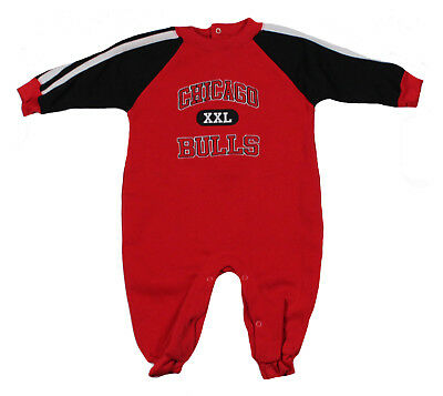 Mighty Mac Chicago Bulls Infants NBA Pajamas Coveralls, Red
