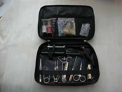 Fly Tying Tool Kit, With Fly Tying Vice,  & Fly Tying Materials New Unused