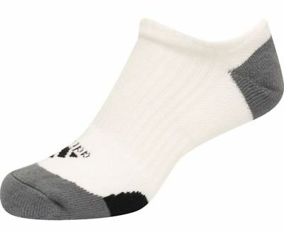 NEW Adidas Everyday Comfort Low Cut Golf Socks White/Gray/Black Mens Size 7-10.5