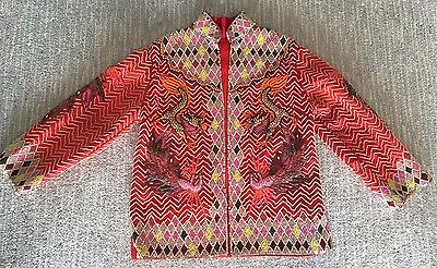 AMAZING Vintage Couture Custom 50s MCM Sequin Beaded Asian DRAGON Tourist Jacket