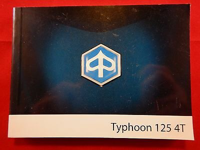 Piaggio Typhoon 125 4T Owners Manual 2008 Handbook 2009
