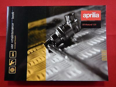 Aprilia Sr Motard 125 Owners Manual Handbook Riders Book 2012 2013