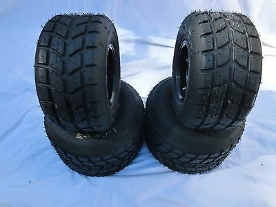 SET OF NEW LeCont KART RACING WET TYRES ON NEW FREELINE RIMS
