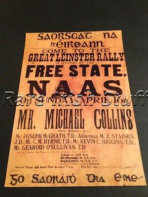 Michael Collins Free State Rally In Naas, Kildare, Ireland -  1922 Poster Print