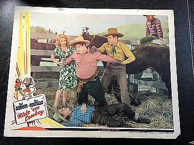 Ride 'em Cowboy Lobby Card -Universal Pictures 1942 - Abbott & Costello